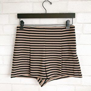 Free People High Waisted Striped Short Brown Black